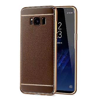 Handy Hülle für Samsung Galaxy S8+ Plus Schutz Case Tasche Kunstleder Braun
