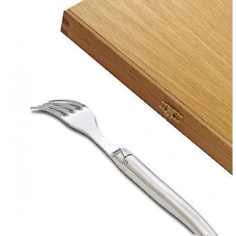 Uppsättning av 6 Prestige utbud Laguiole gafflar fullt smidda polerad direkt från Frankrike