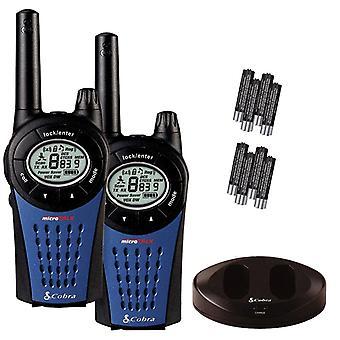 Cobra MT975 PMR446 Walkie Talkie Radio Twin Pack mit Ladegerät und Batterien - schwarz/blau