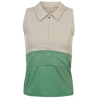 HEAD Womens Capule Tennis Polo Shirt ärmlös prestanda Tee Top