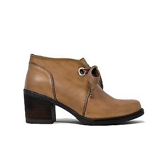 Liberitae Botines Zapato Abotinado En Piel Taupe 21803350-03