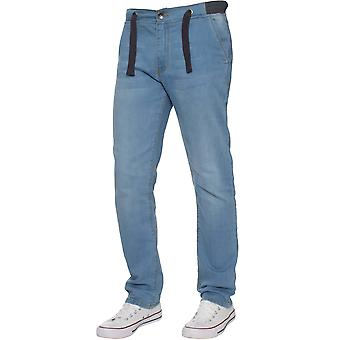 Boys Cuffed Light Blue Stretch Denim Jeans | Enzo Designer Boys Clothing