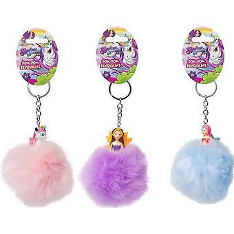Magical Kingdom Princess Pom Pom Keychain Fairy Princess Purple