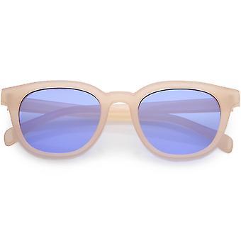 Cuerno de moderna montura gafas de sol cuadrados plano lente 50mm