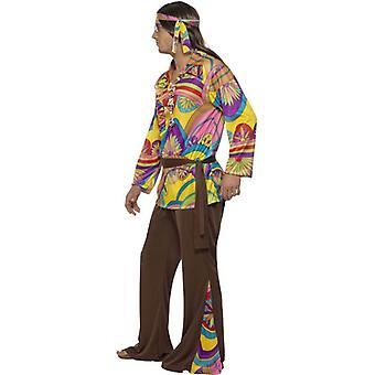 Psychedelische Hippie Man kostuum, borst 38