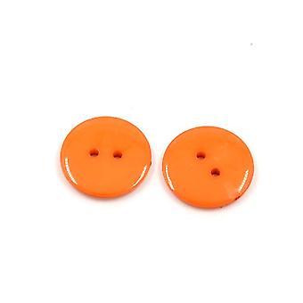 Paket 50 + Orange Acryl 12mm 2-Loch annähen von Knöpfen HA09515