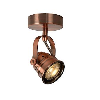 Lucide Cigal Cottage Round Metal Copper Ceiling Spot Light