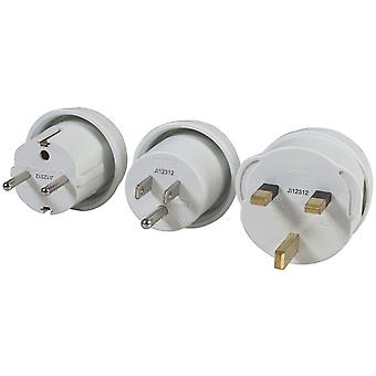 TechBrands International Mains Travel Adaptor (3 Pack)