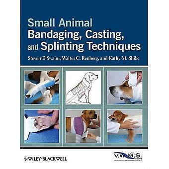 Animal pequeno curativo, fundição e técnicas de imobilização