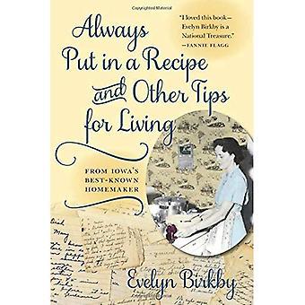 Alltid sätta i ett recept och andra Tips för levande från Iowas mest kända hemmafru (Bur ek bok) (en Bur ek bok)