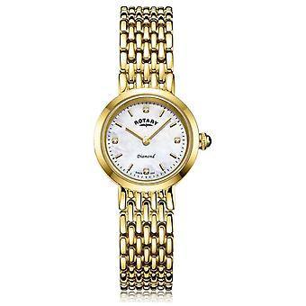 Rotary   Ladies Gold Bracelet   Mother of Pearl Dial LB00900/41/D Watch