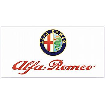 Large Alfa Romeo flag (white bgrd) 1500mm x 900mm