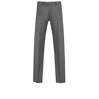 ・ ドベル メンズ グレー サメ皮のスーツのズボン スリム フィット