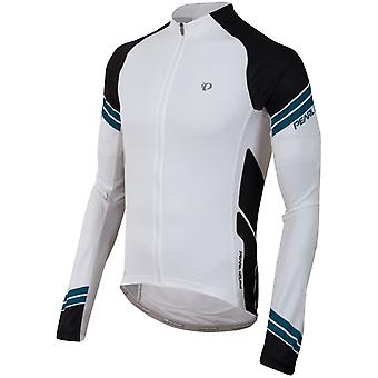 Pearl Izumi White-Black Elite Long Sleeved Cycling Jersey