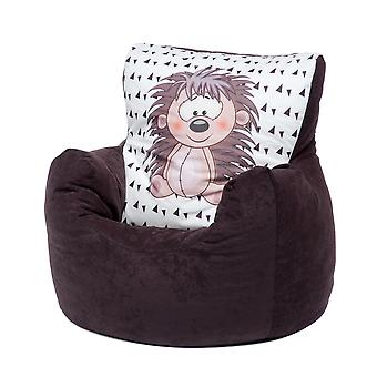 Loft 25® Toddler Animal Print Soft Plush Bean Bag Chair-Igel, Brown