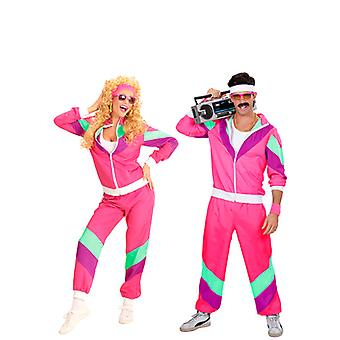 80 s pink Shell costume (veste, pantalon)