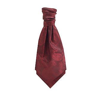 Dobell Burgundy Paisley Cravat
