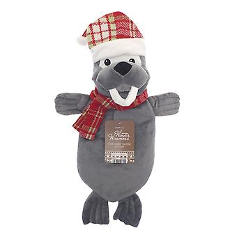 Kids Winter Warmer Plush 1L Hot Water Bottle: Walrus