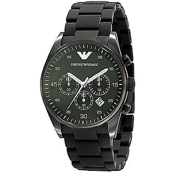 Armani sport menns Ar5922 Chrono grønn Dial kvarts silisium watch