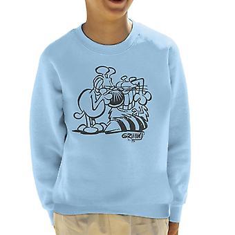 Grimmy And Attila Joke Kid's Sweatshirt