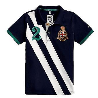 Joules Junior Whistler Jungen verziert Polo Shirt - Französisch Marine