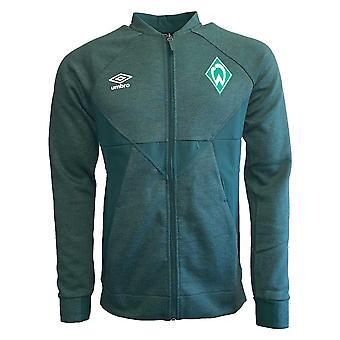 2019-2020 Werder Bremen Umbro Presentation Jacket (Green)