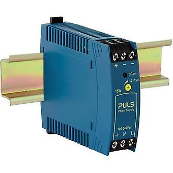 Rail mounted PSU (DIN) PULS MiniLine ML15.121 12 Vdc 1.3 A 15 W 1 x