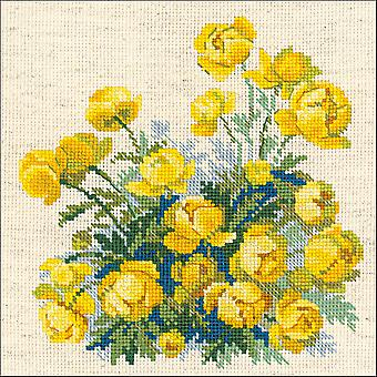 Globe Flower Counted Cross Stitch Kit-8