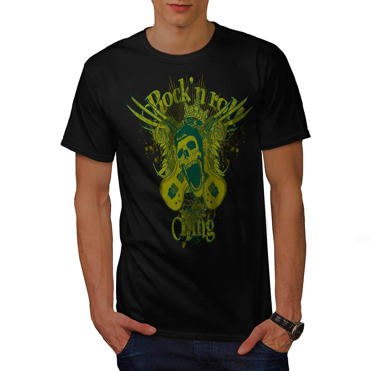 Rock N Roll Gang Music Men Black T-shirt | Wellcoda