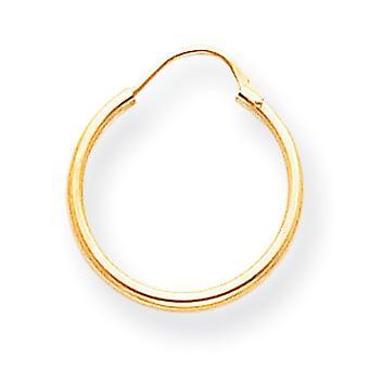 14 k Gold Creolen -.3 g - Maßnahmen 15x15mm