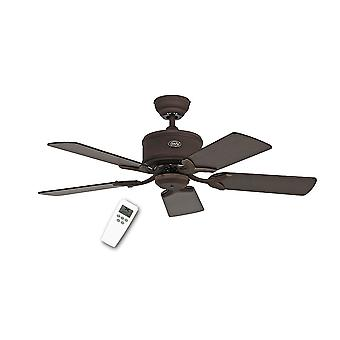 DC ceiling fan Eco Elements Brown antique with remote control in various sizes