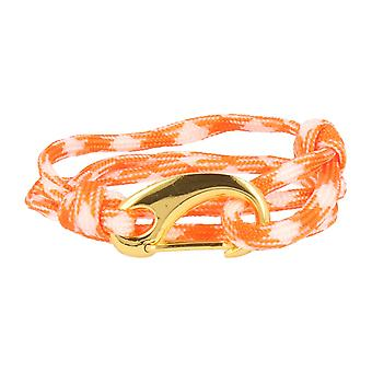 Vikings bracelet orange white spring clasp gold