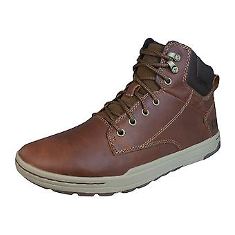 Caterpillar Colfax Mid Mens Leather Boots / Trainers - Barley