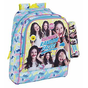 Safta Day Pack Adaptable A Carro Soy Luna Faces