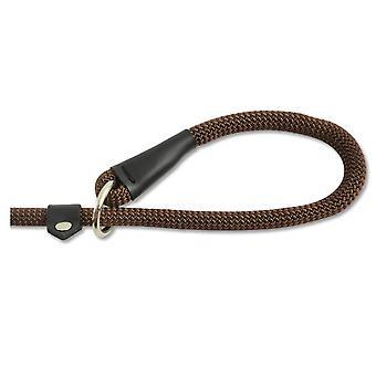 Heritage Deluxe Nylon Rope Slip Lead Brown 12mm X1.5m