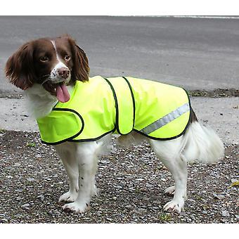 Safety Hi Vis Coat Yellow 25cm (10