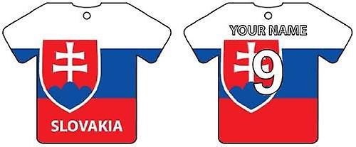 Personalised Slovakia Flag Jersey Car Air Freshener