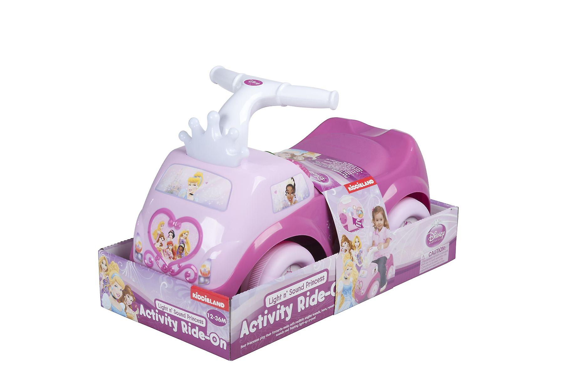 Pink Ride-on Princess Light & Sound Kids Activity made from Plastic