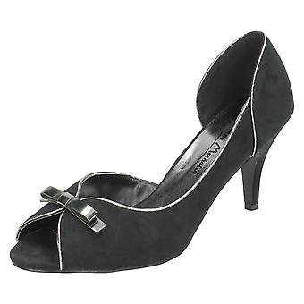 Ladies Anne Michelle Peep Toe Court Heels