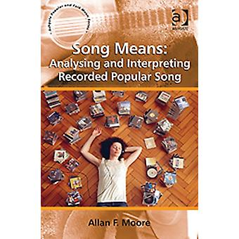 Song Means: Analysing and Interpreting Recorded Popular Song (Ashgate Popular and Folk Music) (Paperback) by Moore Professor Allan F.