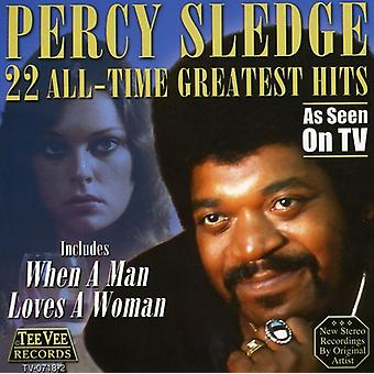 Percy Sledge - 22 alle tid Greatest Hits CD] USA importerer