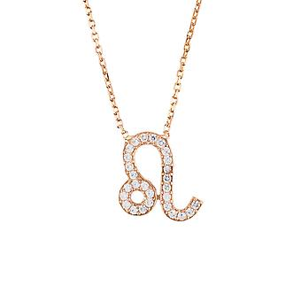 Latelita Zodiac Leo Sterling Silver Necklace Sign Astrology Pink Rose Gold