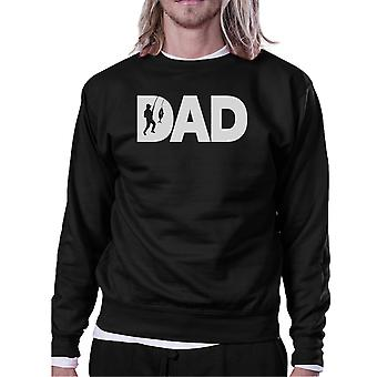 Dad Fish Black Sweatshirt Fathers Day Gifts For Fishing Lover Dads