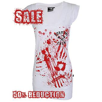 Darkside - ZOMBIE KILLER 13 - Womens White T Dress