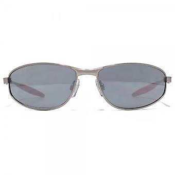 FCUK Slim Metal Wrap Sunglasses In Matte Gunmetal