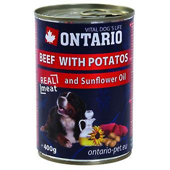 Ontario Dog Beef/Potatos/Sunflower Oil (Dogs , Dog Food , Wet Food)