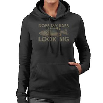 Does My Bass Look Big Fishing Women's Hooded Sweatshirt