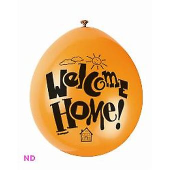 'WELCOME HOME' 9' Latex ballonnen (10)