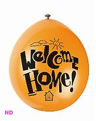 """'WELCOME HOME' 9"""" Latex Balloons (10)"""