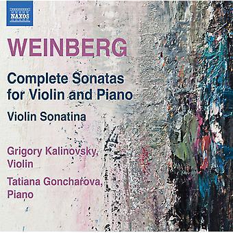 Weinberg / Kalinovsky / Goncharova - Mieczyslaw Weinberg: Sonatas completas para la importación de los E.e.u.u. [CD]